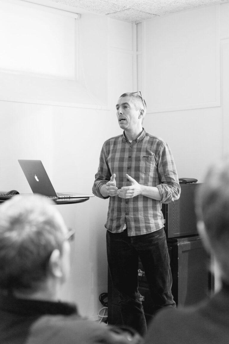 Morten Kjærsgaard med oplæg til Magenta's udviklerdag 2018